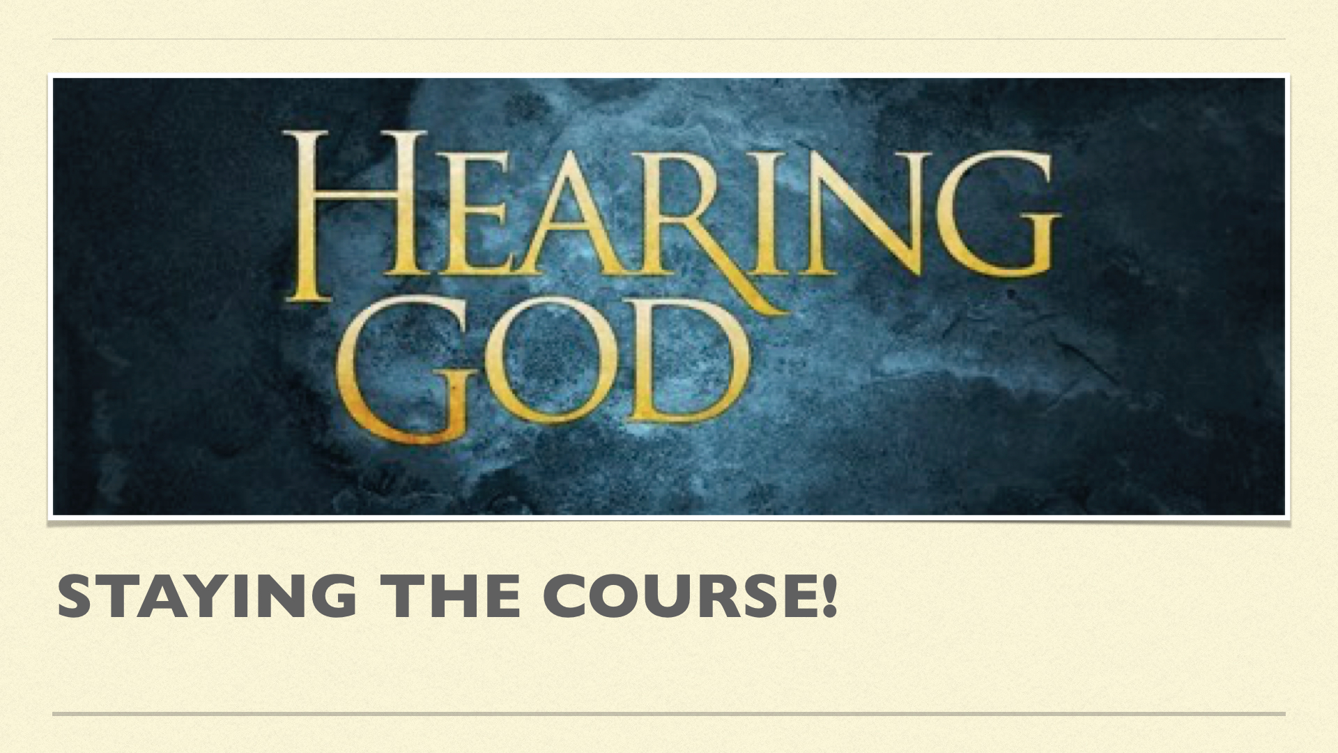 Hearing god:Challenges week2 by Lance Steeves